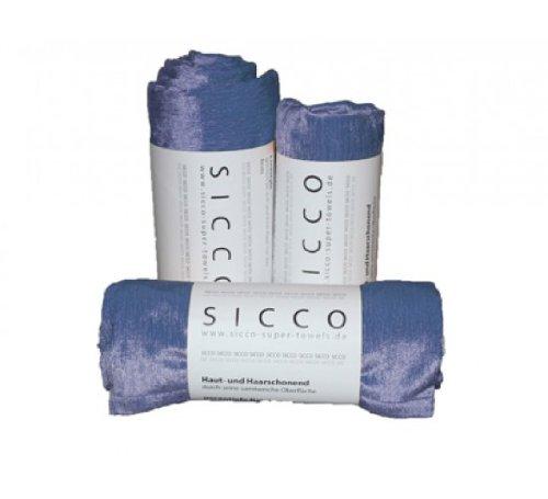 Wirth SICCO Set Sports 2x Handtuch 60 x 90 cm / 1x Duschtuch 70 x 130 cm Mikrofaser, Set, Handtuch Microfaser, blau
