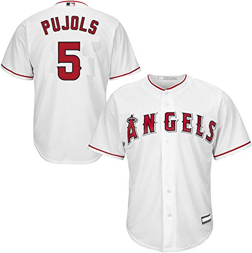 Outerstuff Albert Pujols Los Angeles Angels MLB Boys Youth 8-20 Player Jersey (White Home, Youth Large 14-16)