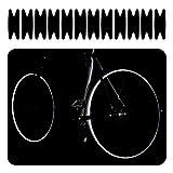 klixie Reflektoren Aufkleber für Fahrrad Felge und Speichen Schwarz, Universal