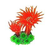 Homeilteds Simulación del Acuario Peces De Coral Anemone Fish Tank Planta Decoración Mar Árbol De Silicona De Los Fondos Marinos Decoración Adornos Durable (Color : R, Size : M)