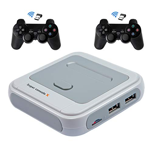 Super Console X Game Consoles with 256GB Built-in 50,000+ Games 50+ Emulators 4K TV HDMI Output Classic Video Game Console for Adults,Support PSP/PS1/DC,2 Controllers,Best Gifts for Kids (256GB)