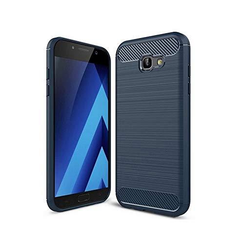 Vultic Carbon Fiber Samsung Galaxy A5 2017 Case, Durable [Shock Absorption] Slim TPU Matte Lightweight Thin Bumper Cover for Samsung Galaxy A5 2017 (Navy Blue)