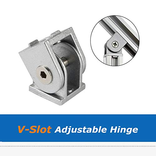 STEWYR 1Pc Cnc 3D Printer Parts 20 * 20 * 27Mm Aluminum Angle Connector Adjustable Hinge Compatible With V-Slot C-Beam