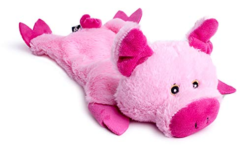 Petface Farmyard Buddies Crinkle Flat Pig Dog Toy