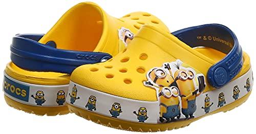 Crocs Fun Lab Minions Multi Unisex Niños Roomy Fit, Amarillo (Yellow 730), 27/28 EU