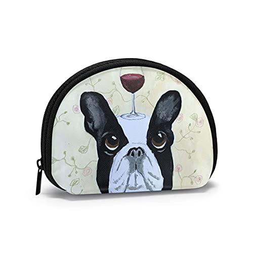 Bartender 'S Commesso Bulldog francese divertente Borsellino a tema stampato Borsetta carina Shell Borsa portafogli ragazza Portafogli Bule Portamonete Portachiavi Gifys Donna Novità