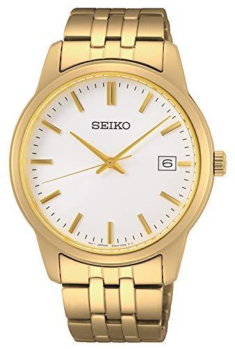 Seiko Reloj Analógico para Hombre de Cuarzo con Correa en Metal SUR404P1