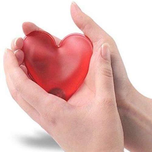 Calentador reutilizable calienta el corazón en la mano