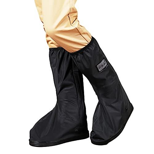 NYWENY Botas de lluvia impermeables para zapatos, botas de goma antideslizantes de alta calidad, reutilizables para motocicleta/ciclo, adecuadas para hombres y mujeres