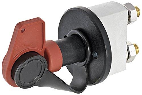 HELLA 6EK 002 843-131 Hauptschalter, Batterie - Drehbetätigung - 24V - geschraubt - Anschlussgewinde: M10x1,5 - Form: rund - Messing - Schließer
