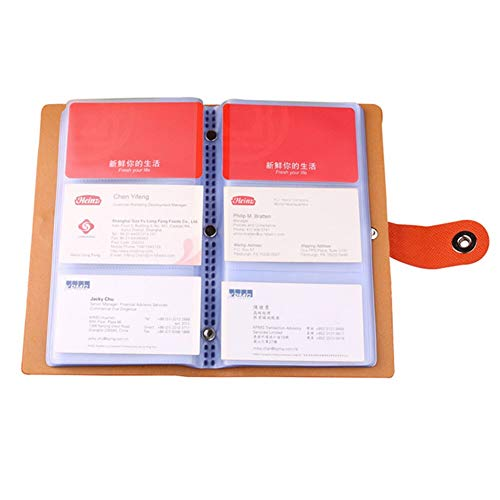 『YANHUA Business Card Books Business Card Holders with Magnetic Closure for Organizing Cards Journal Business Card Organizer Name Card』の1枚目の画像