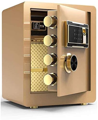XHMCDZ Caja Fuerte ignífugo y Resistente al Agua Segura con Teclado Digital, hogar Completamente de Acero de Seguridad Anti-Robo de contraseñas de Huellas Dactilares pequeña Caja Fuerte