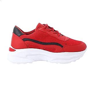 حذاء رياضي برباط ونعل سميك وسائط متعددة للنساء من جرينتا