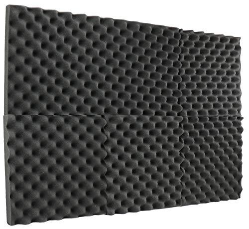 """New Level 6 Pack- Acoustic Panels Studio Foam Egg Crate 2"""" X 12"""" X 12"""""""