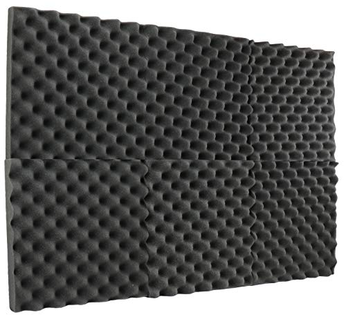 New Level 6 Pack- Acoustic Panels Studio Foam Egg Crate 2' X 12' X 12'