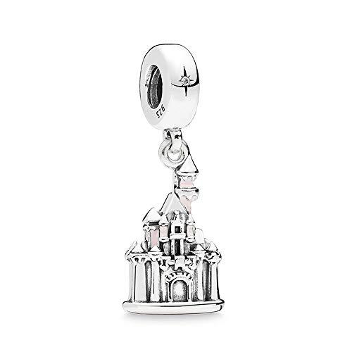 Pandora 925 plata esterlina DIY joyería Charmtrinket bella durmiente castillo tierra colgante moda mujer pulsera pulsera regalo joyería