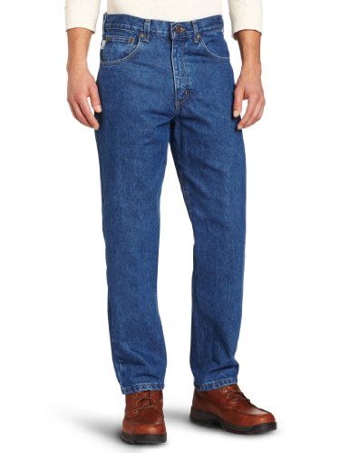 Carhartt Men's Relaxed Fit Tapered Leg Jean (Regular and Big and Tall Sizes), Dark Stone, 30W X 30L