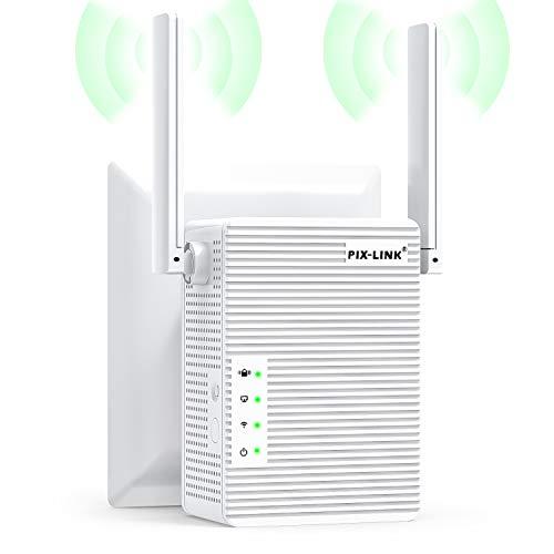 FanIce WLAN Repeater, Wireless Netz Signal Verstärker 300Mbit/s, mit LAN Port/WPS Taste/Repeater/AP-Modus WLAN Verstaerker WiFi Signalverstärker kompatibel mit Allen WLAN Geräten