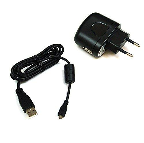 GIGAFOX® Ladegerät und Ladekabel, Datenkabel, USB-Kabel für Sony Cyber-shot DSC-H400, DSC-TF1, DSC-W710, DSC-W730, DSC-W800,DSC-W810, DSC-W830