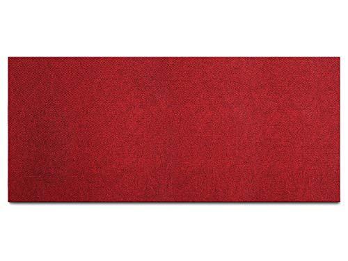 Schmutzfang-Teppich-Läufer Meterware PICOLLO - Rot, 100 x 150 c, Rutschfester Küchenläufer, Robuste Sauberlauf-Matte