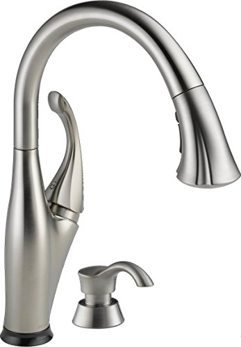 Delta Faucet Addison Single-Handle Touch Kitchen Sink Faucet with Pull Down Sprayer, Soap Dispenser,...