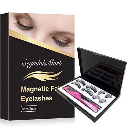 Faux Cils Magnétique,Faux Cils 3D Réutilisables Imperméable,3 Paires sans Colle,pour les femmes maquillage nature