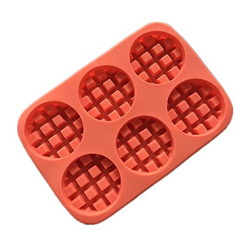 Qiujing Molde de pastel redondo de silicona Waffle Mold Tool Accesorios de cocina para tiendas de postre
