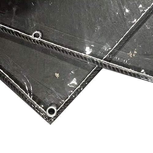 Dekzeil, transparant, waterdicht pvc, hoogwaardige afdekking, multifunctioneel zeil met oogjes voor overkapping, bootspot, afdekking (afmetingen: 14 × 19 m) 1.4×2m