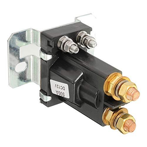 JSJJAES Relé Relé de aislador de batería Dual Inicio Activar/Apagado 4 Pin 500A 12V para Interruptor de alimentación de automóviles