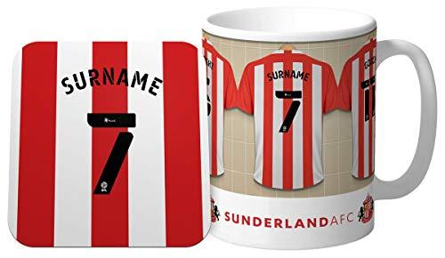 Personalised Sunderland AFC Dressing Room Shirts Mug & Coaster Set
