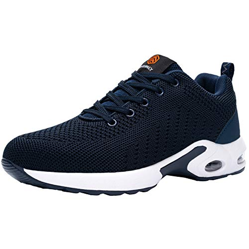 FENLERN Steel Toe Shoes Women Lightweight Air Cushion Safety Sneakers Comfortable Slip Resistant Work Sneakers Safety Toe Tennis Shoes Indestructible Shoe