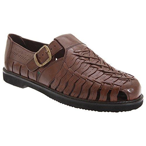 Gordini - Sandalo in Pelle - Uomo (47 EUR) (Marrone)