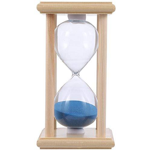 BAWAQAF Reloj de arena, 15/30 minutos marco de madera reloj de arena,Temporizador de reloj de arena de vidrio transparente,Adornos de escritorio de reloj de arena