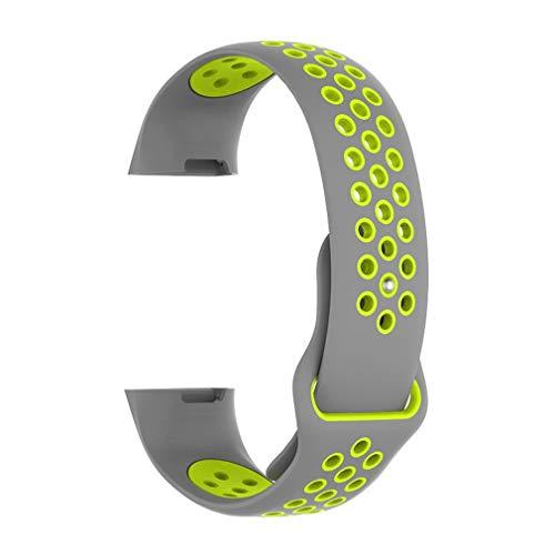 Leoboone - Correa de Silicona para Reloj Fitbit Charge 3, Dos Colores, Correa Deportiva Inteligente, Reloj Inteligente