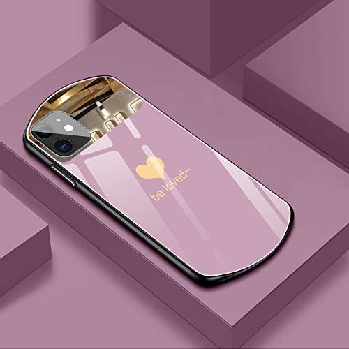 Carcasa de cristal templado para iPhone 12 11 Pro Max Xsmax Xr X Se 8 7 6 Plus con espejo de silicona