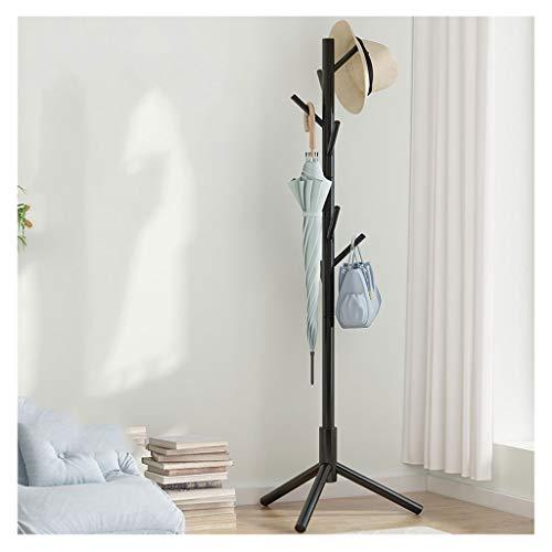 MKVRS Perchero de madera de pie libre, para el pasillo de la entrada, para el árbol de la capa, con 8 ganchos, para el hogar o la oficina, bufandas, perchero para abrigos (color: B)