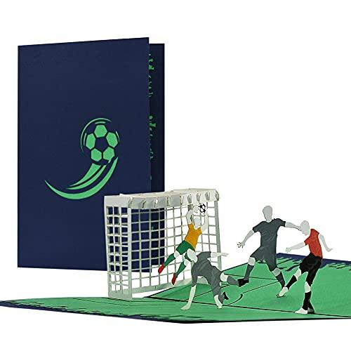 Karte Fussball ROT, Geburtstagskarte, Gutschein für Fans von Bayern München, Eintracht Frankfurt, SC Freiburg, uvm.   Einladungskarten Geburtstag Kinder, H35