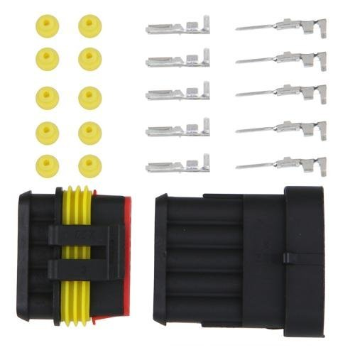 Kit 5 Pins Impermeable Electrico Cable Conector Sellado