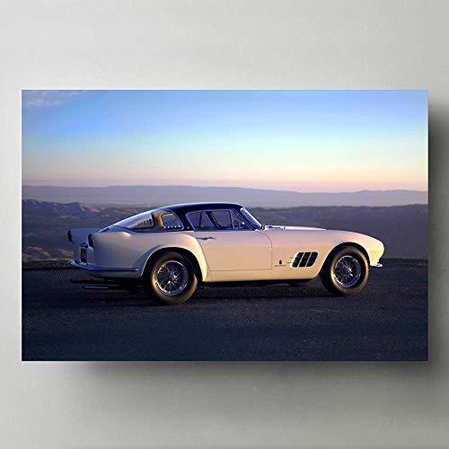 Pintura al óleo póster Ferraris 375 MM Coupe Old Retro Classic Vintage Car Wall Art Posters e impresiones Lienzos modernos para decoración de sala de estar 40X60cm