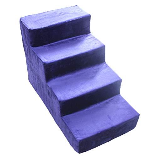 LXLA - Elevando escaleras de Perros de Color púrpura, Escalera de 4 Pasos para Mascotas pequeñas y Medianas, Ideal para sofá y Cama Alta - 60 cm de Altura