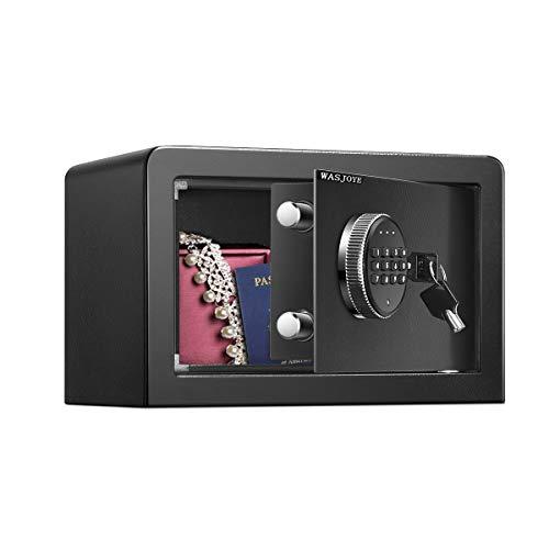 Caja Fuerte (8,9L), Caja Fuerte Convencionales de Seguridad, Caja de Seguridad Anti-Vibración Electroimán(20 x 31 x 20 cm)