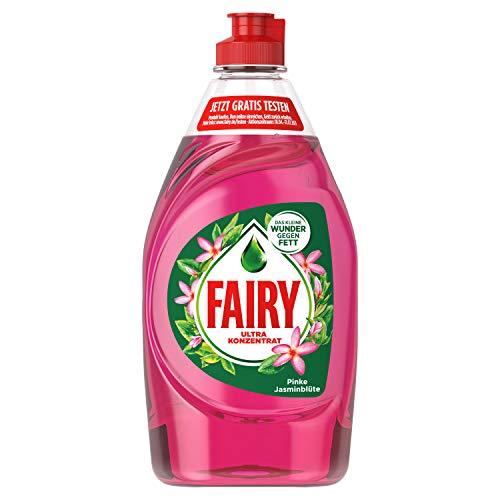 Fairy Spülmittel Pinke Jasminblüte, mit effektiver Formel für sauberes Geschirr und Fettlösekraft, 5 x 450 ml