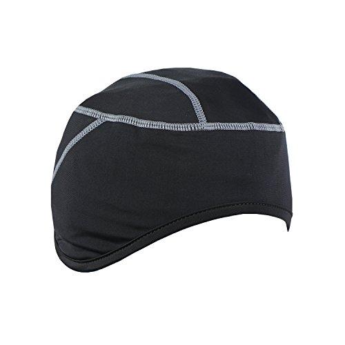Tofern Skull Cap Fahrradhelm Mütze Helmmütze atmungsaktiv elastisch mit Ohrenschutz, Grau