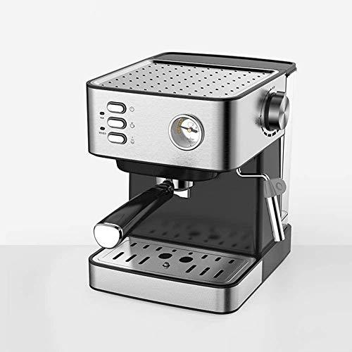 MISLD La presión de 20 Bar máquina de café termómetros observable / 1,5 litros / 850 Watt/Vapor Espuma de Leche, extracción Doble poros simplifica la operación/Home Office - Silver