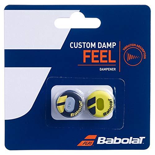 Babolat Custom Damp X2 Amortiguador de vibración de Tenis, Unisex Adulto, Negro/Amarillo, Talla Única