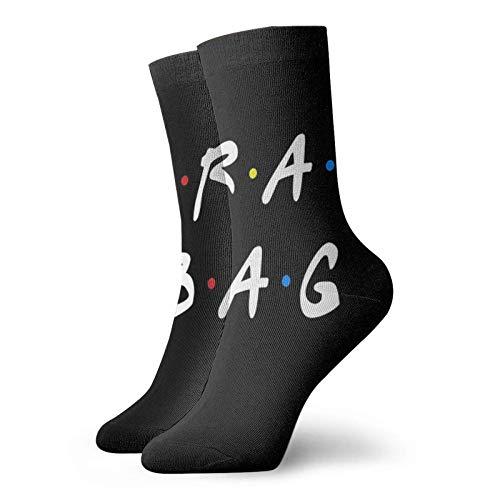 Crap Bag Calcetines clásicos de confort atlético casual calcetines 30 cm/11.8 pulgadas para unisex wen y mujeres