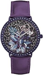 ساعة عصرية للنساء من جيس، هيكل ستانلس ستيل ومينا ارجواني وعرض انالوج - W0820L3