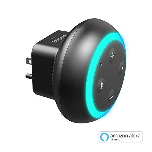 Ellipsis Smart Speaker, Plug-in Smart Speaker with Amazon Alexa, Smart Home Control Device