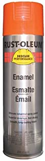 Rust-Oleum V2156838 High Performance Enamel Spray Paint- Equipment Orange