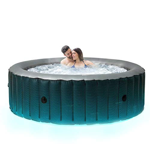 Miweba MSpa aufblasbarer Whirlpool 2021 Starry C-ST061 Outdoor – inkl. LED Band - für 6 Personen - 138 Düsen - 204 x 70 cm - Tüv GS geprüft - 930 Liter - Pool aufblasbar (Comfort Starry 6 Personen)